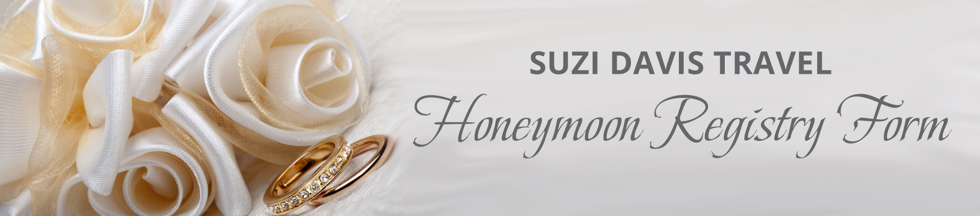 Suzi Davis Travel Honeymoon Registry Form